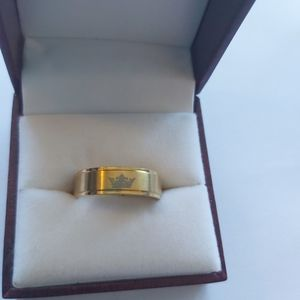 Gold Filled  Ring w/ His Queen Sign